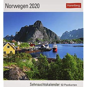 Norwegen 2020: Sehnsuchtskalender. 53 Postkarten