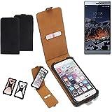 K-S-Trade Flipstyle Hülle für Switel eSmart M3 Handyhülle Schutzhülle Tasche Handytasche Case Schutz Hülle + integrierter Bumper Kameraschutz, schwarz (1x)