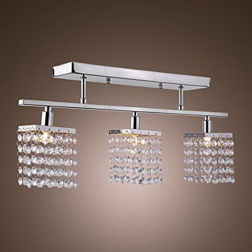 sasa Luxus Trommel 4 Lichter Flush Mounted Crystal Deckenleuchte, Moderne Kronleuchter Pendelleuchte Leuchten für Schlafzimmer