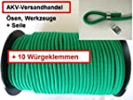 8mm Expanderseil grün 20m +10 Würgekl...