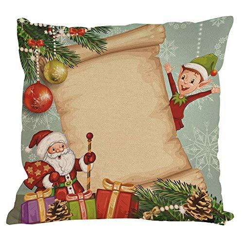 shenhaimojing Weihnachten Wurfkissenbezug Dekorativ Zierkissenbezüge Kissenbezug Hülle Sofa Indoor Home Party, 45 x 45 cm -