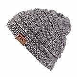 VRTUR Junge Mädchen Warme Feinstrick Häkeln Winter Wolle Strick Ski Mütze Schädel Slouchy Kappen Hut Caps