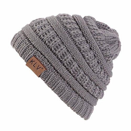 JUTOO Vente de Liquidation Garçon Filles Chaud Crochet Hiver Laine Tricot Ski Bonnet Skull Slouchy Caps Chapeau