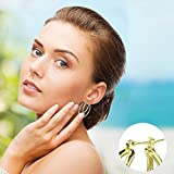 PAKSHO 9 KT Gold 2 Kreolen, ovale Ohrringe für Damen, Schmuck im Europäischen Stil