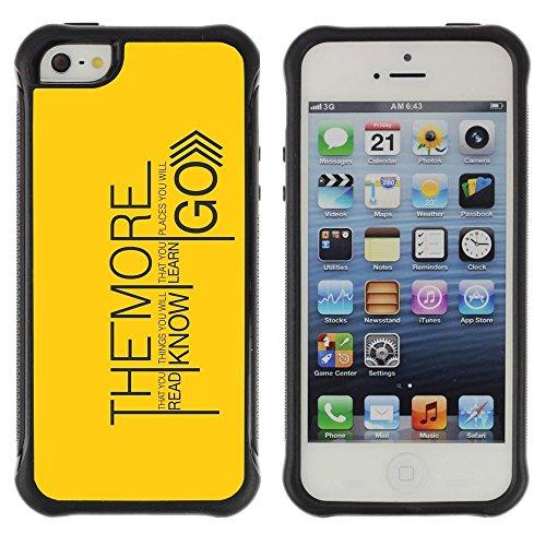 Hypernova Defender Series TPU Silikon Robust hülle Schutzhülle Case für Apple iPhone SE / iPhone 5 / iPhone 5S [Lesen Kennen Lernen Go]