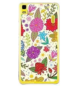 Fuson Clipart Floral Design Designer Back Case Cover for Lenovo K3 Note :: Lenovo A7000 Turbo (Abstact Art Paint Painting Illustrations)
