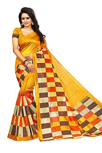 Kanchan Saree For Women & Girls Ideal For Parties & Functions(KTORANGE MIX_Multi...