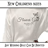 Butterfly Personalised Children's Satin Kimono /Robe's Personalised For The Wedding Party by Inspiredcreativedesign