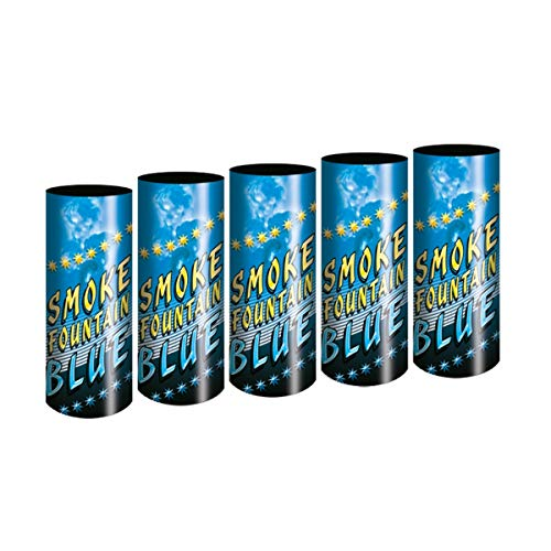 5 Stück Bengalo Rauch Vulkan Fontäne Party Feuerwerk Rauchfarbe blau