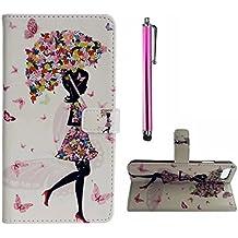 Para Sony Xperia E5 PU Cuero Billetera Funda Flip Carcasa,pintura de la cáscara colorido diseño de la carpeta con TPU suave interior Para Sony Xperia E5 ...