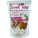 Sweet Tabs 27° Gold Brazilian Wax. Einfach auspacken, kneten und anwenden. Enthaarungswachs aus Sugaring Zuckerpaste zur Haarentfernung per Hand. Keine Vliesstreifen oder Erwärmen nötig. 8 * 45g =360g