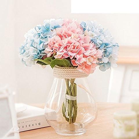 LIUYU Kit de Fleurs Artificielles Pastorales Coréennes / Décoration Ménagère / Vase en Verre Moderne-A,F