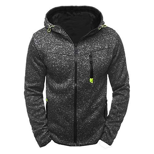 Cooljun Herren Sport Zipper Sweater Fleece Cardigan Kapuzenjacke, Männer Hoody Zipper Slim Hoodies Sweatshirts Pullover Mantel Element-fleece-sweatshirt