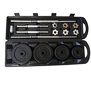 FIT4HOME Olympic Cast Iron dumbell set 50kg, 25kg, 20kg BarBell Weights Set. Iron dumbells