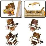 LYXMY 4 x Faltbare Verriegelung Tisch Stuhl Bett Beine Stützen Halterung, 90 Grad Eisen...
