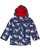 Baby Joules Baby boys Baby Barnaby Waterproof Coat Ink Blue Wellyphant