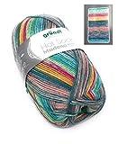 Gründl Hot Socks Madena 6-Fach Sockenwolle, 150 gr. Socken Stricken, (05 Soft Ice Mix)