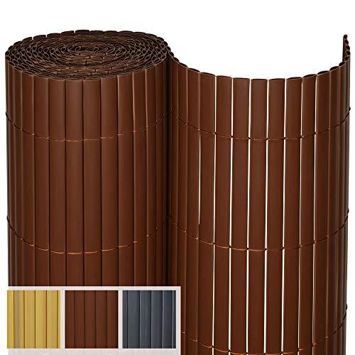 Sol Royal PVC Sichtschutz SolVision P14 - PVC Sichtschutzmatte Balkon & Terrasse 160 x 500 cm Braun Sichtschutzzaun Balkon Sichtschutz