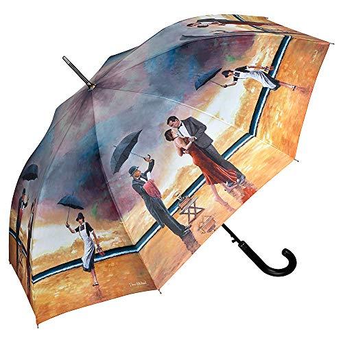 VON LILIENFELD Regenschirm Automatik Damen Herren Kunst Motiv Theo Michael: Hommage to The Singing Butler