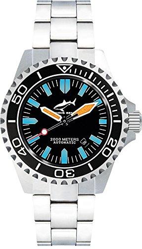 Chris Benz Deep 2000m Automatic CB-2000A-G1-MB Reloj Automático para hombres Reloj de Buceo