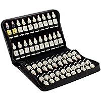 offro Taschenapotheke für 40 Bachblüten aus schwarzem Leder, 300 g preisvergleich bei billige-tabletten.eu