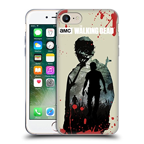 Offizielle AMC The Walking Dead Voller Daryl Silhouetten Soft Gel Hülle für Apple iPhone 6 / 6s Rick