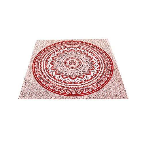 Soleil d'Ocre 512022 Serviette/Drap de Plage, Coton, Rouge, 180 x 180 cm