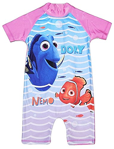 Girls All in One Swimming Costume Suit Disney Finding Dory 18-24 Months to 4-5 Years