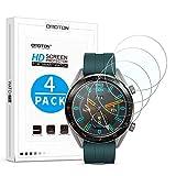 OMOTON [4 Stück] Panzerglas Schutzfolie für Huawei Watch GT & Huawei Watch GT Active, 9H Härte, Anti-Kratzen, Anti-Öl, Anti-Bläschen