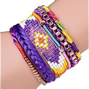 """ANDANTE Hippie Fashion Bracciale """"IBIZA"""" stile Etno One Size con la chiusura magnetica in acciaio inox (Modell 4018)"""