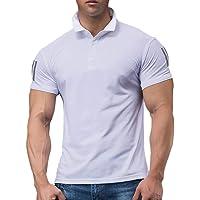 GYMAPE Uomo Polo da Golf Manica Corta da Corsa Casual T-Shirt da Allenamento Atletica Ad Asciugatura Rapida