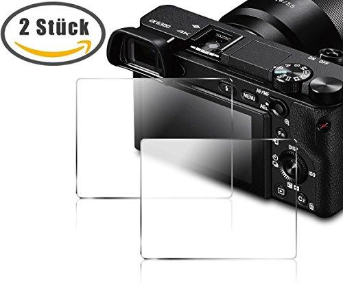 DaoRier für Sony Alpha 5000 5100 6000 6300 Panzerglas Display Schutzfolie HD Transparent Anti-Kratzer gehärtetes Glas 9H Anti-Fingerabdruck Glasfolie (2 Stück, Panzerglas)