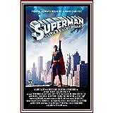 Fabulous Poster Affiche Vieille Affiche Anglaise de Film Superman 35th Anniversary Rétro Poster Cinéma Vintage 91x137cm