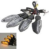 Wooya 4Pcs 12V Universal Motorrad Bike 3 LED Blinker Blinker Licht Kontrollleuchte