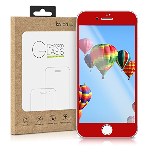 kalibri-Echtglas-Displayschutz-fr-Apple-iPhone-7-3D-Schutzglas-Full-Cover-Screen-Protector-mit-Rahmen-in-Rot