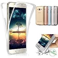 SainCat Funda Galaxy J5 2016 (J510F), Anti-Golpes 360 Grados Silicona Case TPU del Ultra Delgada Clara Funda Transparente Funda para Samsung Galaxy J5 2016-transparente