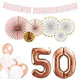 DekoGuru Geburtstags-Set in rosé Gold (50. Geburtstag)