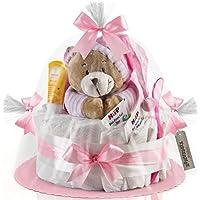 Timfanie® Windeltorte | Spieluhr (1-stöckig / zart-rosa) vario