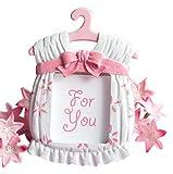 Pinker süßer Baby Bilderrahmen zur Geburt - Mädchen