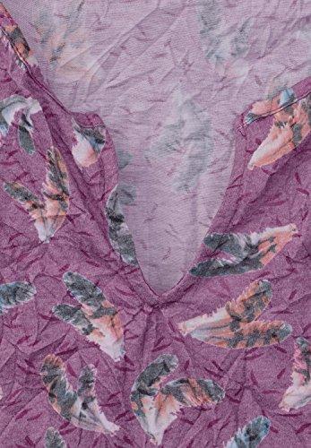 Street One Damen Crashshirt mit Tunnelzugsaum sunny violet (lila) ... ce50d5eeb9