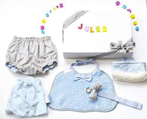 Babybox bébé garçon personnalisé unique fait main coffret cadeau naissance cérémonie