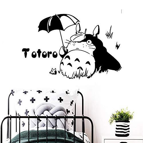 kyprx Totoro Wandaufkleber Entfernbare Wandaufkleber DIY Tapete wasserdichte Wandtattoos Aufkleber Wandbild Kinderzimmer adesivi murali rot L 42cm X 63cm