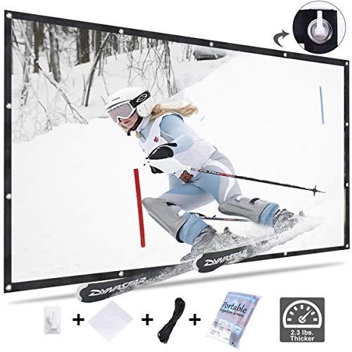 KPCB Beamer Leinwand 16: 9 272X155cm HD 4K Faltbarer Faltenresistent, geeignet für Heimkino und Außenfilm (120 Zoll)