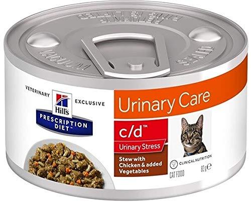HILL'S PRESCRIPTION DIET Feline C/d Urinary Care Stress Spezzatino con Pollo E Verdure per Gatti da 82 Gr