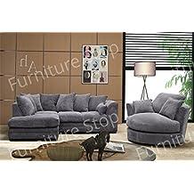 canap dangle et fauteuil pivotant en velours ctel gris caf noir