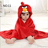 #10: Brandonn Soft Cotton Angry Bird Bathrobe Cum Bath Gown For Babies(Red)
