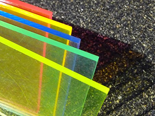Platte Acrylglas GS, 500 x 500 x 3 mm, Fluoreszierend blau Zuschnitt alt-intech® - 3