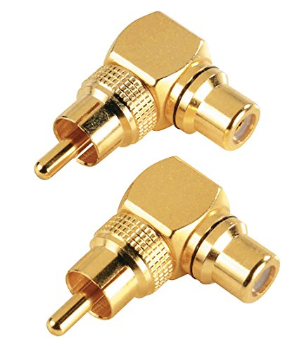 Hama Audio-Adapter Cinch-Anschluss-Set 90° Cinch-adapter-kit