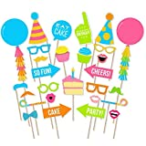 #10: Party Propz Happy Birthday Theme Photobooth Props (30 Pieces)/Birthday Party Props