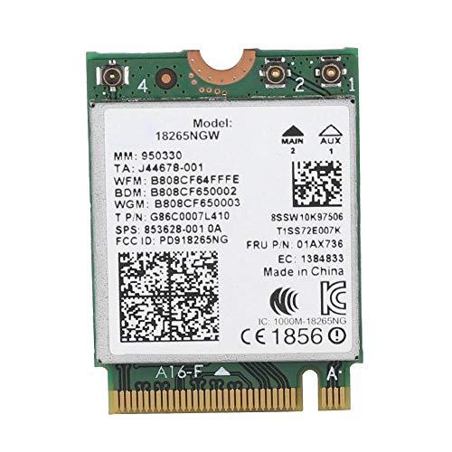 Fishlor AC Wireless-Netzwerkkarte, für Lenovo Intel18265NGW Dualband 2.4G / 5G M2 / NGFF Bluetooth4.2 802.11AC-Karte, Netzwerkkarte